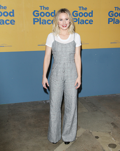 Kristen Bell Embraced The Corset Trend With This Business Casual