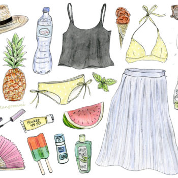 How to beat the heat wave with style, illustrated