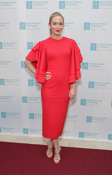 Freeing Voices Changing Lives Gala Host Emily Blunt attends the American Institute for Stuttering 11th Annual Freeing Voices Changing Lives Benefit Gala at Guastavino's on June 26, 2017 in New York City. (Photo by Cindy Ord/Getty Images for American Institute for Stuttering)