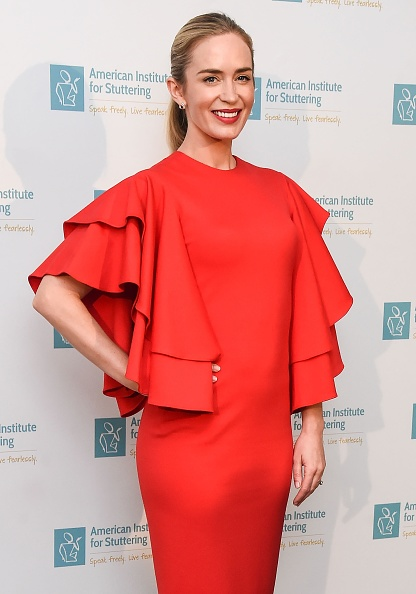 Emily Blunt attends the 11th Annual American Institute for Stuttering Freeing Voices Changing Lives Benefit Gala at Guastavino's on June 26, 2017 in New York City. (Photo by Daniel Zuchnik/WireImage)