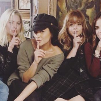 "The ""Pretty Little Liars"" cast said their emotional goodbyes via Instagram, and, tears"