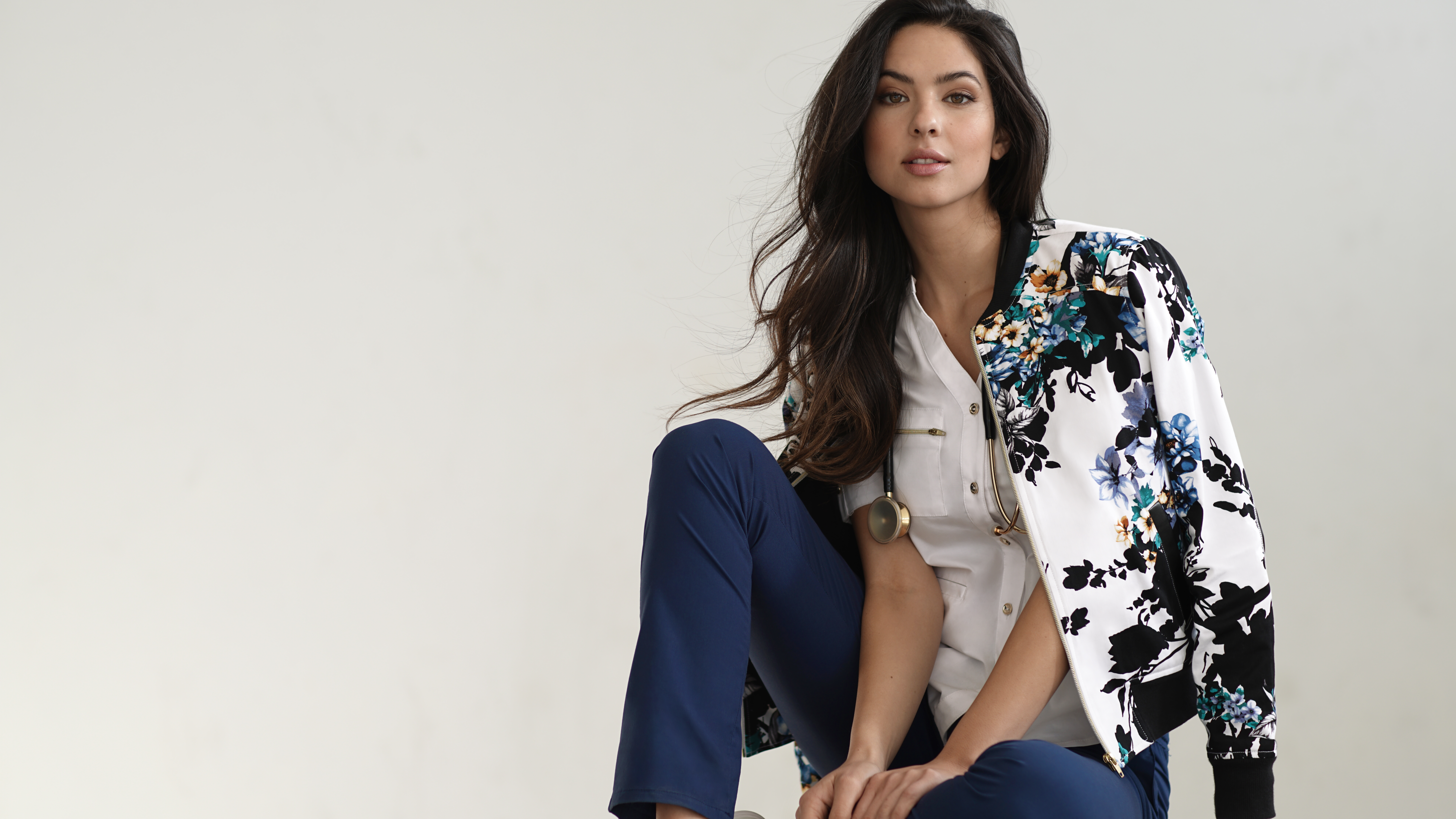 aa7689286c8 And we know we're not in the medical profession, but we still want the  Jaanuu Bomber Jacket ($69)!