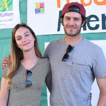 """Leighton Meester and Adam Brody joke about celebrating """"Seth and Blair Day"""" in their house"""