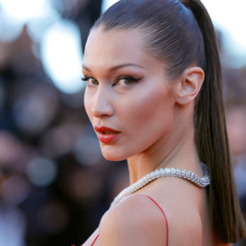 Bella Hadid is wearing gorgeous gowns with dramatic slits and plenty of diamonds in Venice