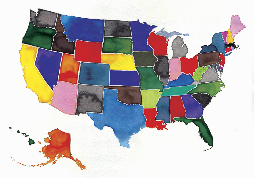 Time Is Asking You To Draw The United States And Uh Its A Lot - Al-franken-draws-us-map