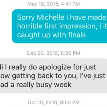 This couple has been texting on Tinder for three years, and the internet has fallen for their unique love story