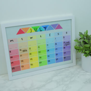 This DIY rainbow calendar is the most whimsical way to schedule your week