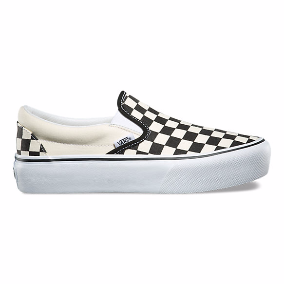 8606da18ac The platform checkerboard Vans slip-on is available right now for  55 on  the Vans website.