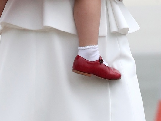Princess Charlotte's red shoes