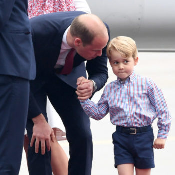 These photos of a shy Prince George arriving in Poland will fulfill your cuteness quota for today