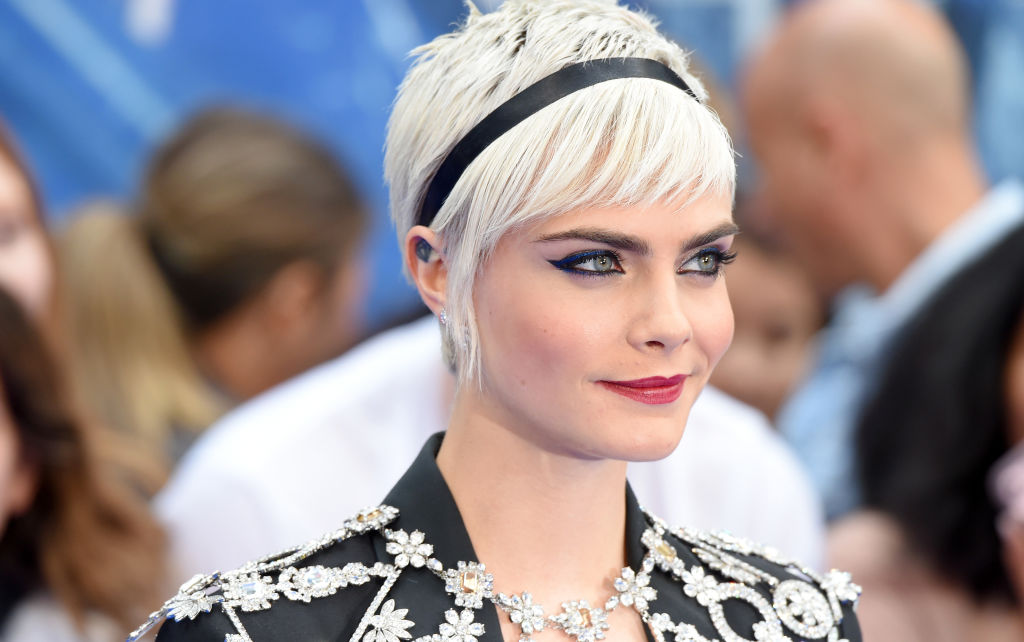 Cara Delevingne Proves That Glitter Green Pixie Cuts Are