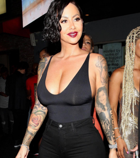 bf12873c2c Amber Rose asks her Instagram followers for advice on getting breast  reduction surgery