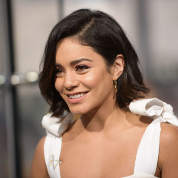Vanessa Hudgens used pink lip gloss on her eyelids, and it weirdly looks amazing