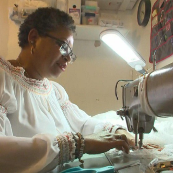 A former Alfred Angelo seamstress is generously offering free services to brides left stranded by the company's closure
