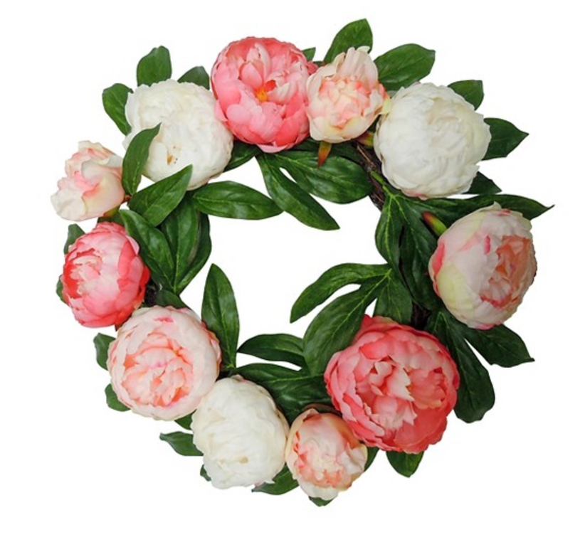 Pink peony wreath from Target.
