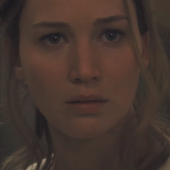 """Jennifer Lawrence is seeing all sorts of demonic things in the full-length trailer for """"Mother!"""""""