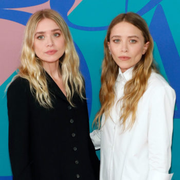 Mary-Kate Olsen, queen of goth chic, stepped out smiling and wearing color