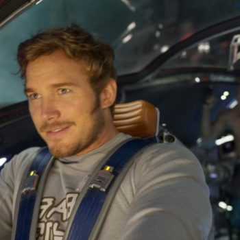 """Watch Chris Pratt try, and fail, to fly through the air during the """"Guardians of the Galaxy Vol. 2"""" blooper reel"""