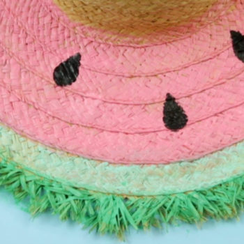 This DIY watermelon hat is the sweetest summer accessory