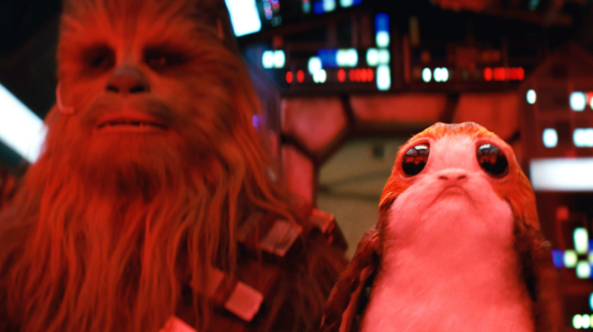 "This ""Star Wars: The Last Jedi"" teaser hints at tension between Chewie and a Porg, and it's making us really nervous"