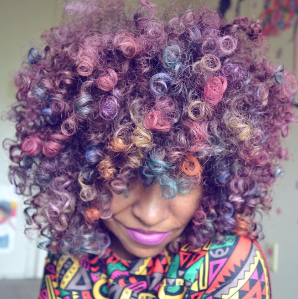 This Instagram star dyes her natural hair with unicorn colors — and here's how you can, too