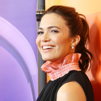 Mandy Moore is making us think twice about matching our eyeshadow to our outfit