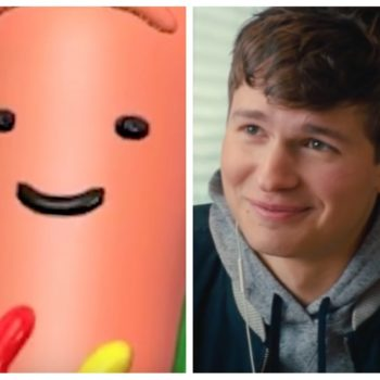 """Ansel Elgort was replaced with the Snapchat hot dog in the """"Baby Driver"""" trailer"""