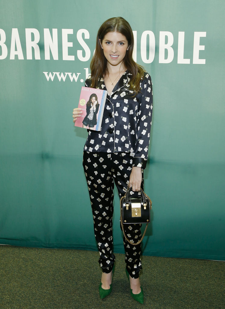 """Anna Kendrick poses during the signing copies of her book """"Scrappy Little Nobody"""" at Barnes & Noble Union Square on August 19, 2017 in New York City. (Photo by John Lamparski/Getty Images)"""