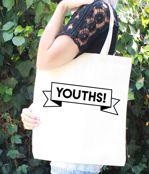 Image of New Girl tote bag