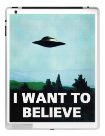 Image of X-Files iPad skin