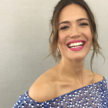 Mandy Moore shows us how to wear a see-through top with an elegant twist