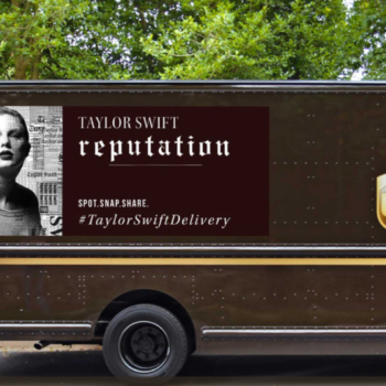 This is why you're going to see Taylor Swift's face on the side of UPS trucks