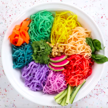 These DIY Rainbow Noodles will transform your next meal into something magical