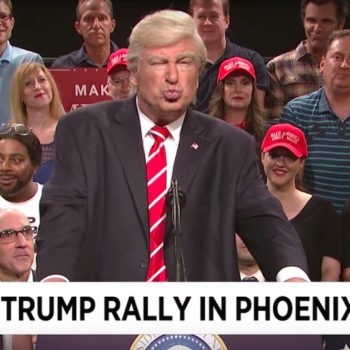 """Alec Baldwin made his return as Donald Trump for the final """"SNL Weekend Update"""" of the summer"""