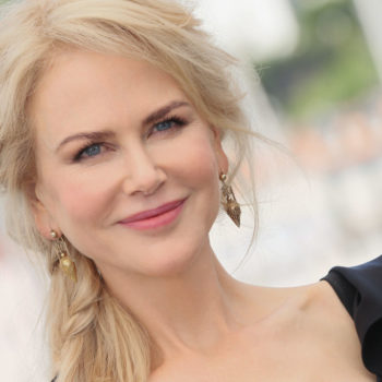 Nicole Kidman looked like a beautiful silver and pink bird in this ombre gown