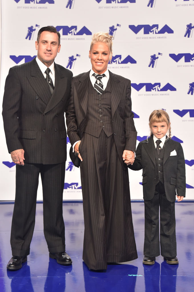 We can't get over Pink and her family in matching suits at ...