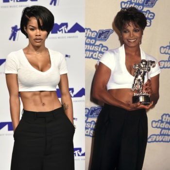 Teyana Taylor paid tribute to Janet Jackson by copying her exact VMAs look 22 years later