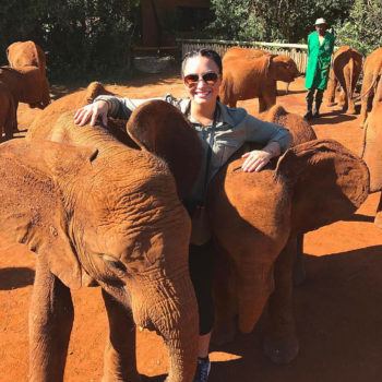 These photos of celebs cuddling elephants are inspiring us to take a safari