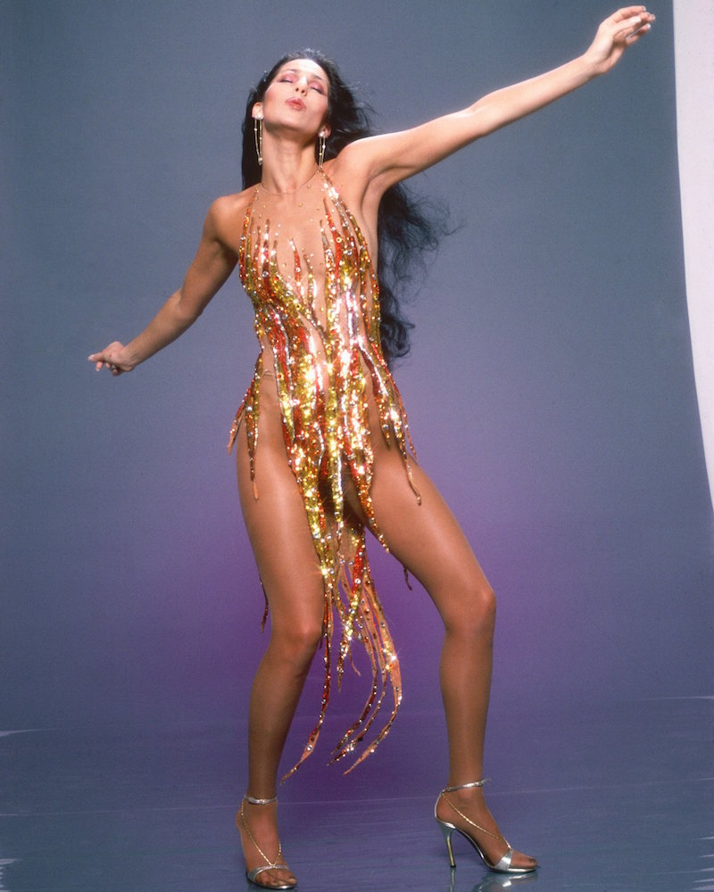 Kim Kardashian dressed up like Cher for her latest photoshoot