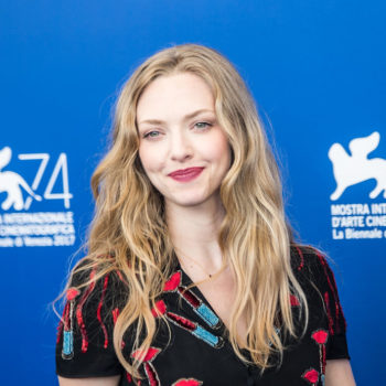 Amanda Seyfried looked like a witchy princess in a sheer, black, floral dress at the Venice Film Festival