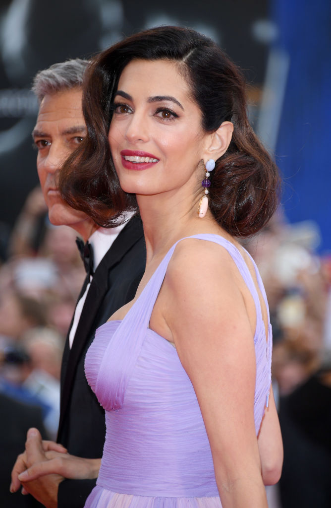 Amal Clooney was pure Old Hollywood glamour at her first