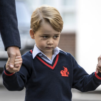We can't stop looking at these pics of Prince George getting dropped off on his first day of school
