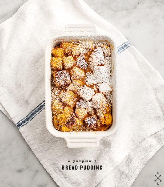 Image of pumpkin bread pudding