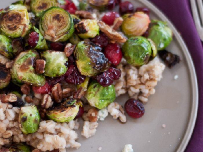 Brussels Sprouts With Cranberries Thanksgiving Side Dish