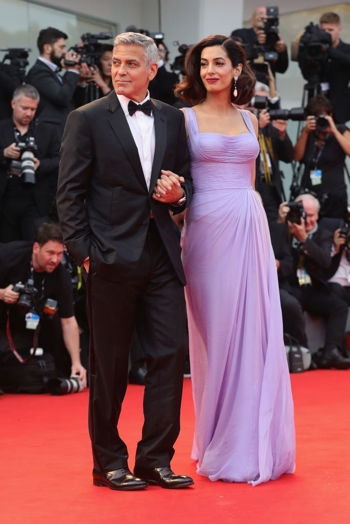 George Clooney and Amal Clooney walks the red carpet ahead of the 'Suburbicon' screening during the 74th Venice Film Festival at Sala Grande on September 2, 2017 in Venice, Italy.