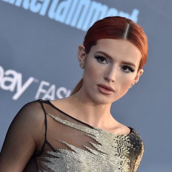 Bella Thorne looked like an '80s prom queen in a pale purple gown