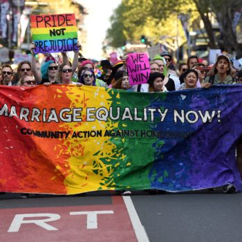 Sydney just threw one of their largest ever LGBT equality rallies