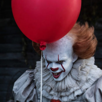 "There was a terrifying clown at an ""It"" showing this weekend"
