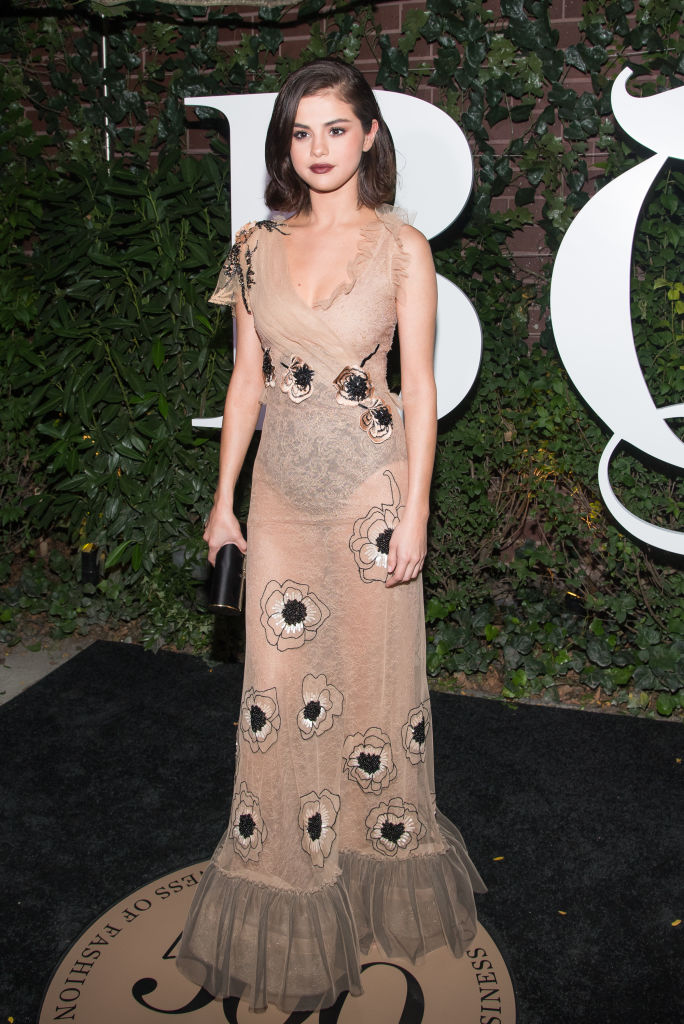 Selena Gomez Rodarte Naked Dress Trend
