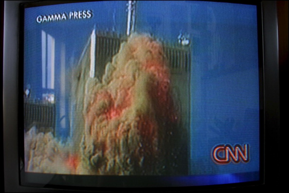 CNN footage of 9/11 attack
